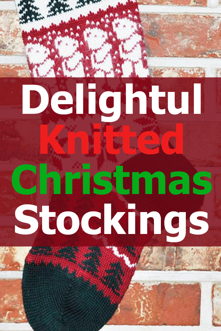 Large knitted Christmas stockings