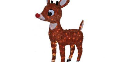 Light Up Rudolph Reindeer Yard Decoration