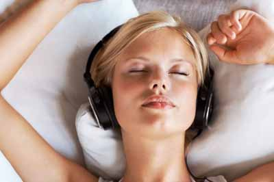 calm music and meditation relieves stress