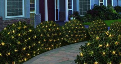 outdoor christmas net mesh lights for bushes
