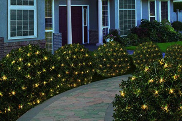 christmas lights for bushes christmas prep