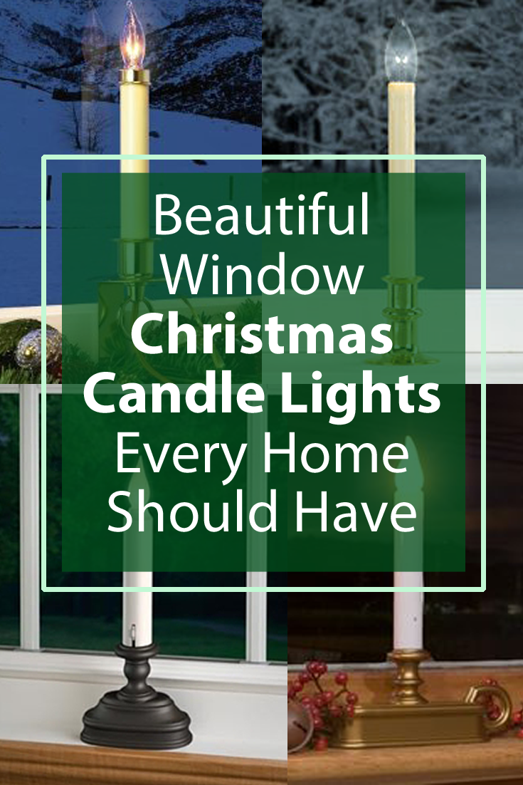 Christmas candle window lights