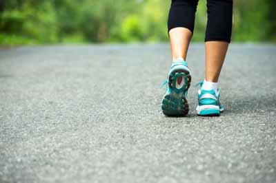 walk regularly for stress relief