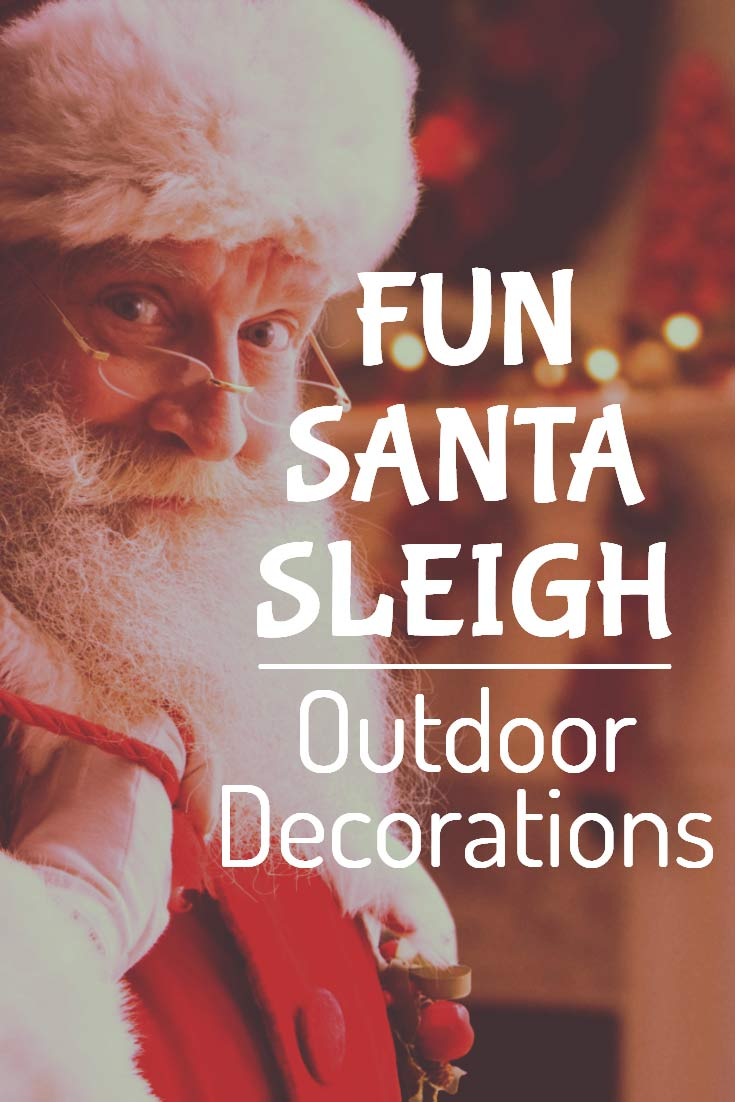 santa sleigh outdoor decorations