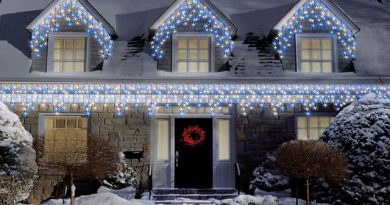 Christmas outdoor icicle lights