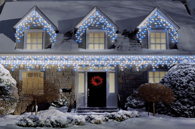 Christmas outdoor icicle lights christmas prep christmas outdoor icicle lights aloadofball
