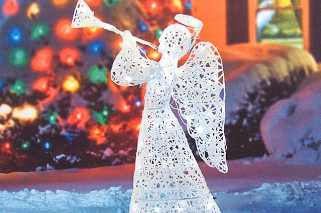 lighted outdoor angel christmas decoration