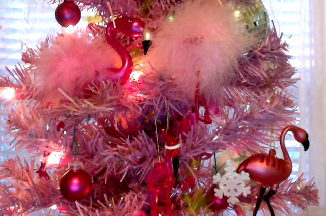 Pink Flamingo Christmas Ornaments