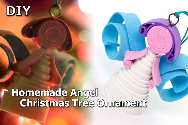DIY Homemade Christmas Angel Ornaments