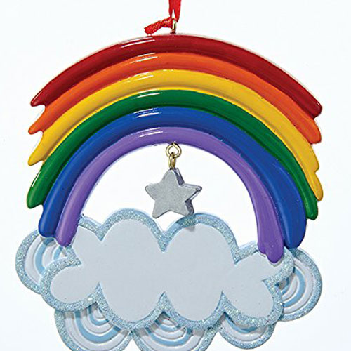 Kurt Adler rainbow Christmas tree ornament