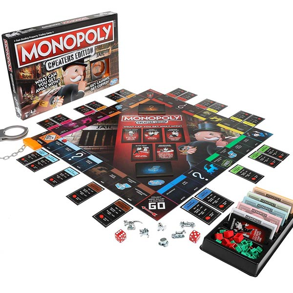 Monopoly Cheaters Ediition Board Game All Pieces