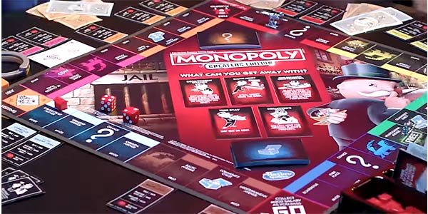 Monopoly Cheaters Version Board Set Up For Playing