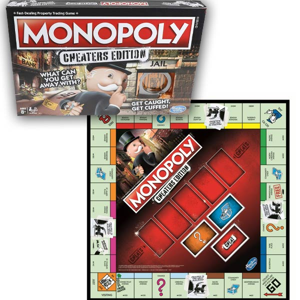 Monopoly Game Cheaters Ediition Box Board Flattened Out