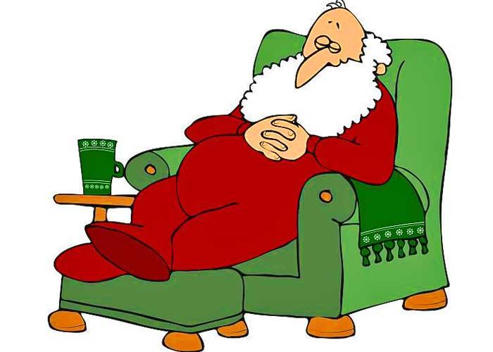 Santa Sleeping In Chair