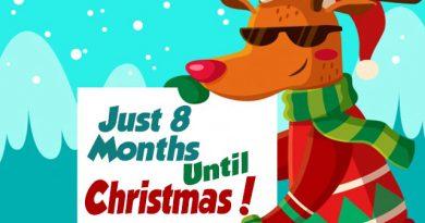 8 Months Til Christmas