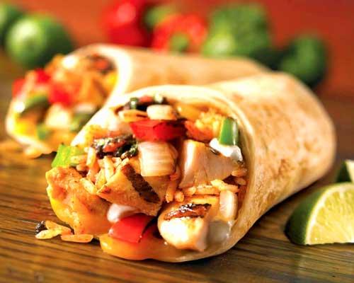 Burrito Chicken Taco Tortilla