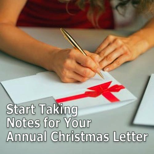 Christmas Letter Take Notes