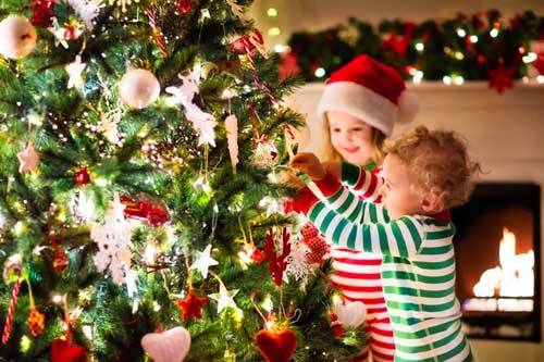 Family Fun - Kids Decorating Christmas Tree