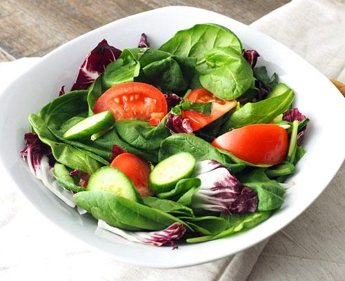 Simple Salad Greens Lettuce Tomatoes Cucumbers