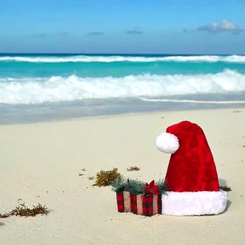 Christmas In July Santa Was At Beach