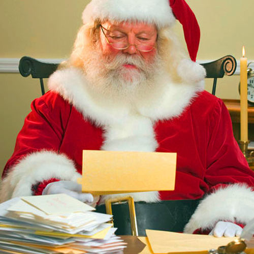 Santa Reading Letters Mail