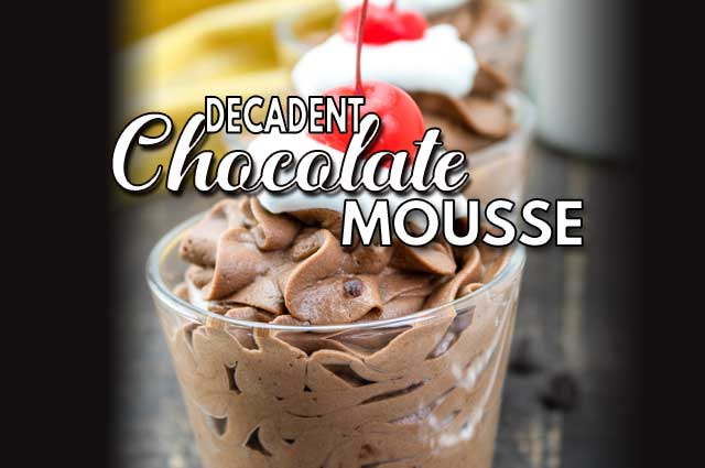 Decadent Chocolate Mousse Featimg